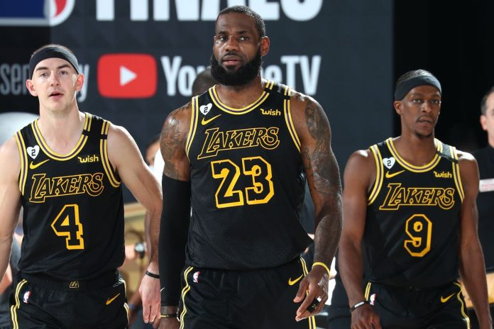 Los Angeles Lakers switch to 'Black Mamba' uniforms for potential title-clinching Game 5