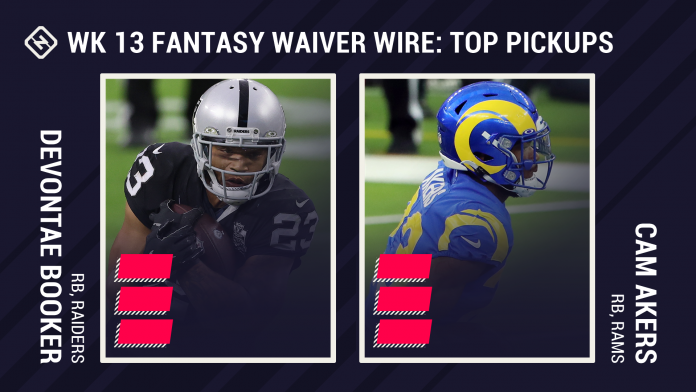 Best Fantasy Week 13 Waiver Pickups: Josh Jacobs injury could open door for Devontae Booker, Cam Akers continues breakout