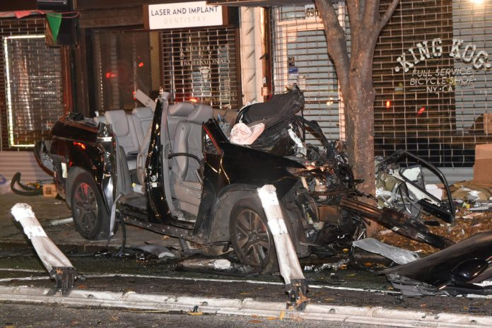 Driver, 26, killed by three-car crash in NYC