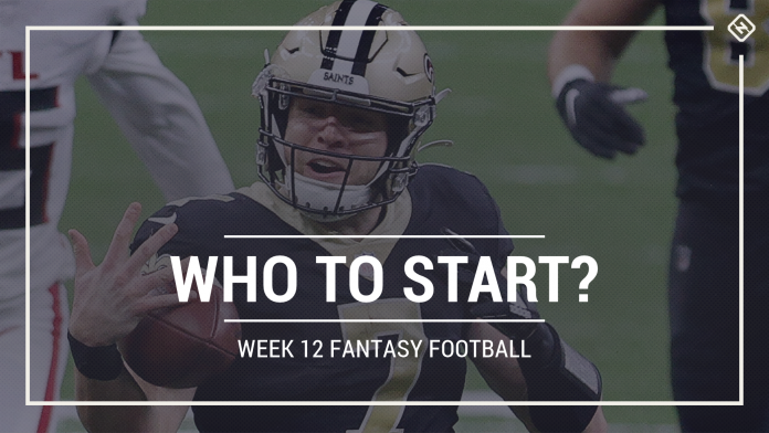Who to start in fantasy football: Week 12 rankings, start-sit advice for PPR, Standard, Superflex scoring